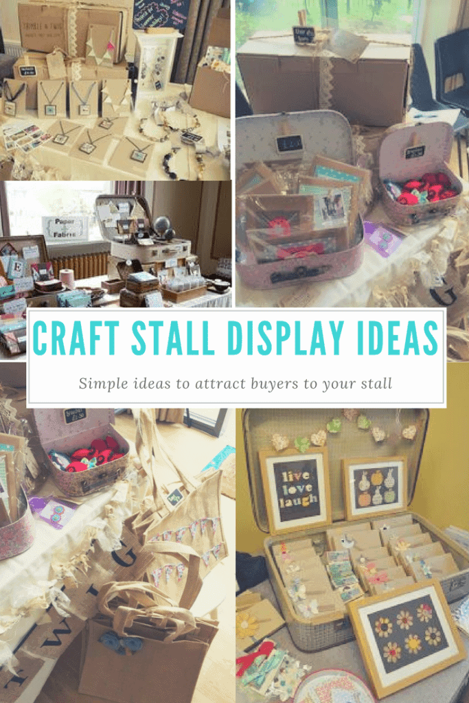 Craft stall display ideas. How to display your crafts to attract buyers at a craft fair. Craft fair design ideas from Thimble and Twig