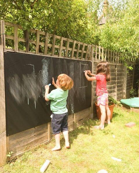 chalkboard kids garden