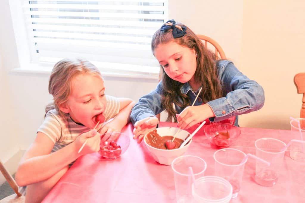 chocolate fondue children's party