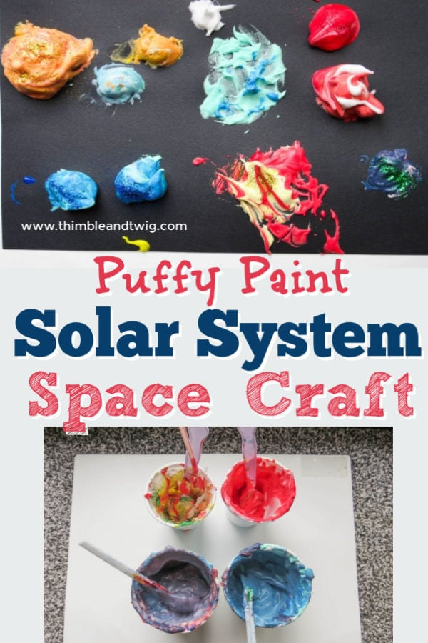 Fun Puffy Paint Solar System Space Craft for Kids