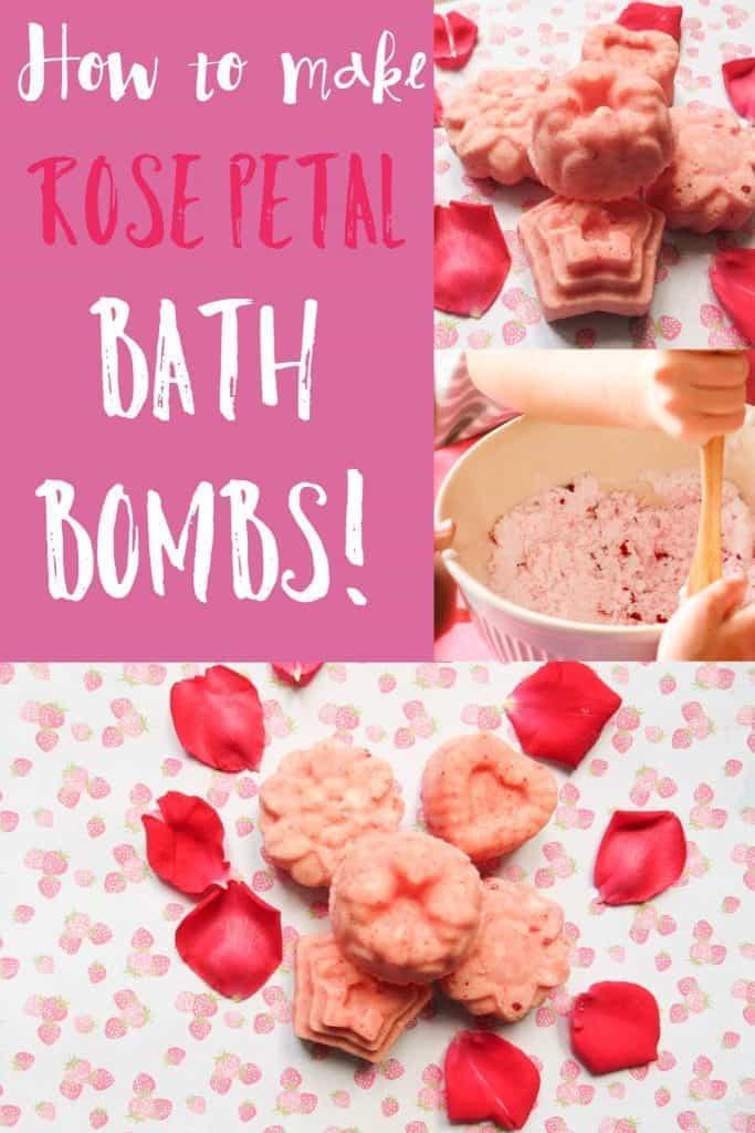 rose petal bath bomb thimble and twig