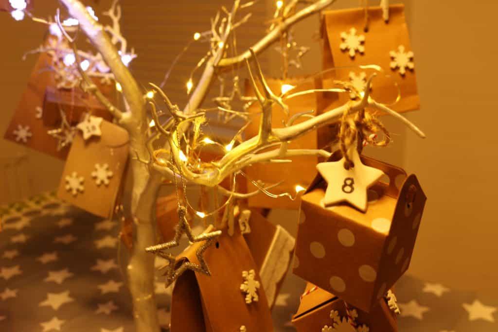 Fairy Light Christmas Tree Advent Calendar