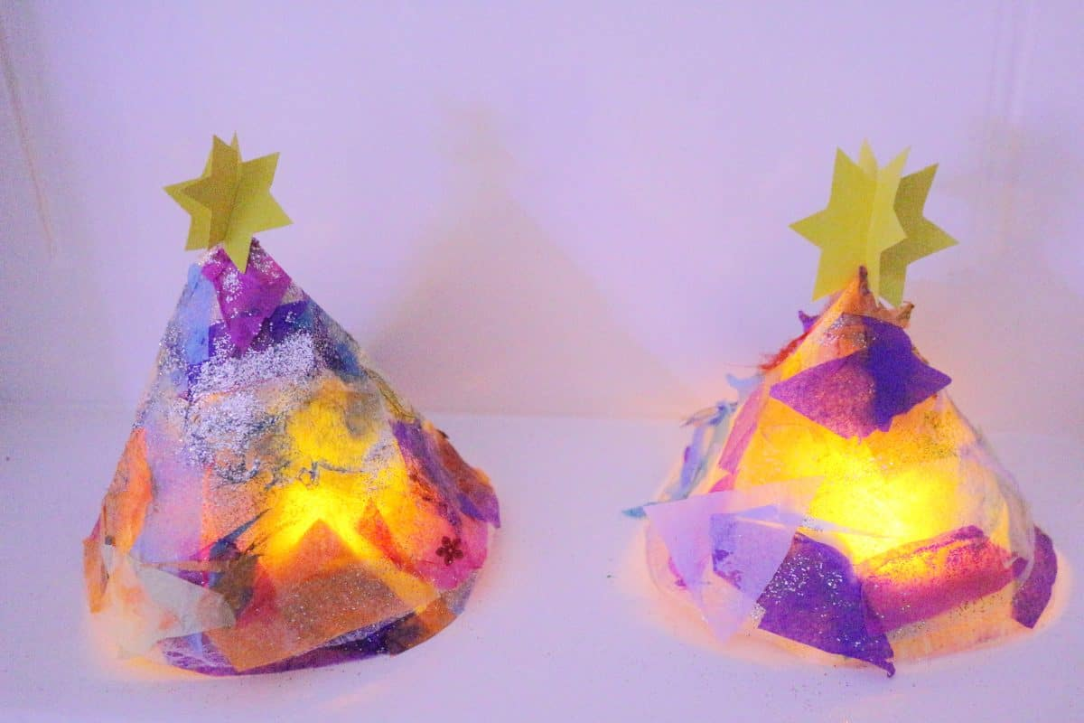 Glowing Christmas Tree Crafts
