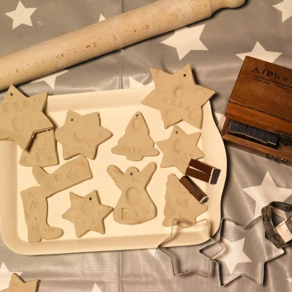 Handmade DIY clay Christmas decorations