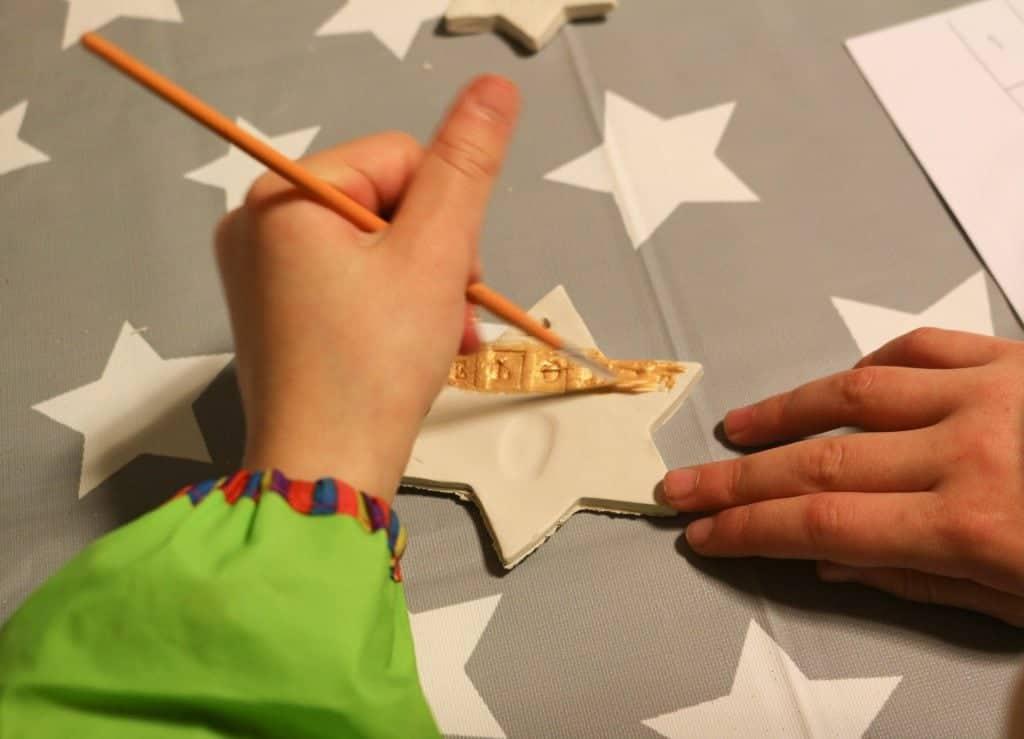 Handmade DIY clay Christmas decorations