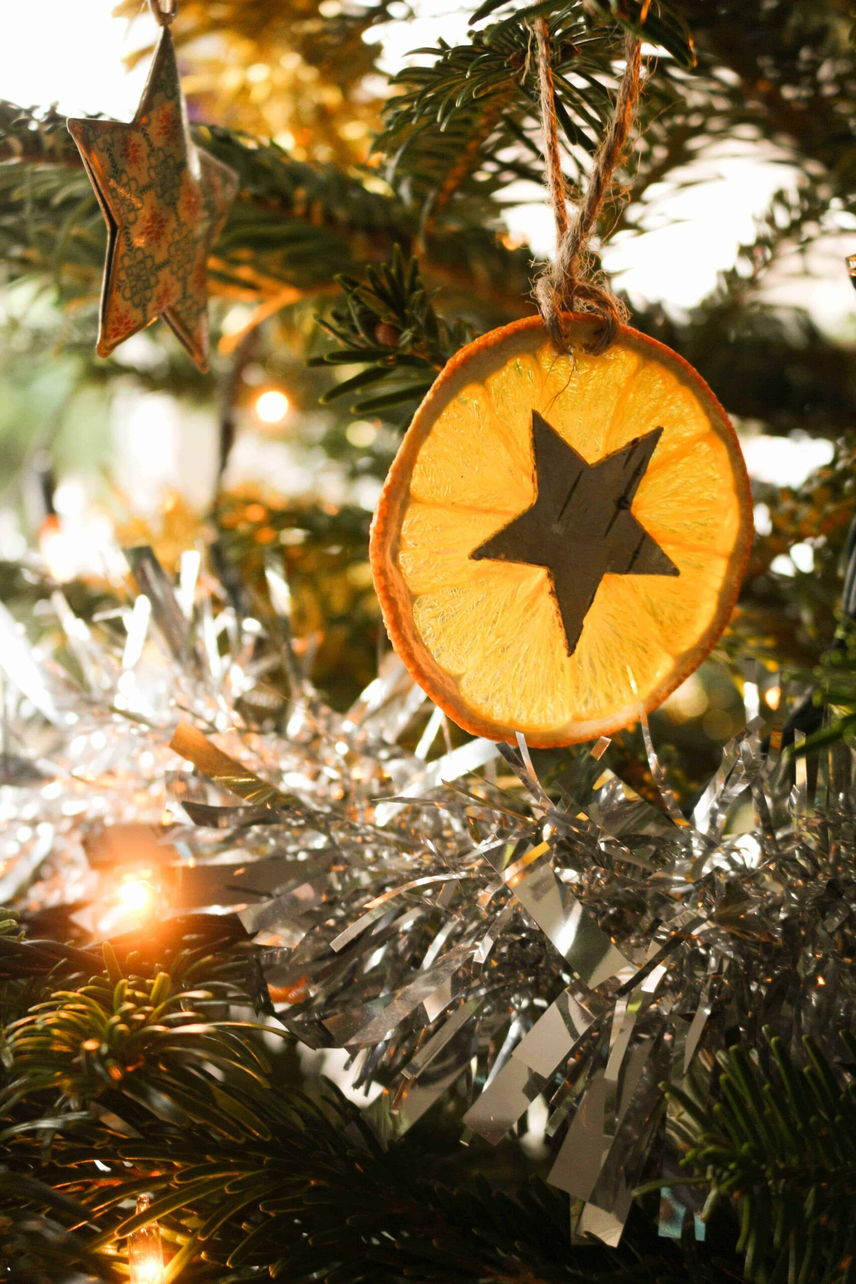 Diy Orange Star Handmade Christmas Decorations Thimble And Twig