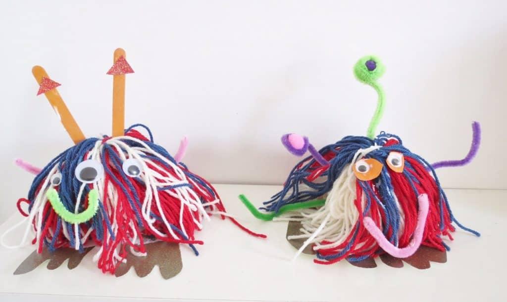 space children's crafts. woolly bug alien