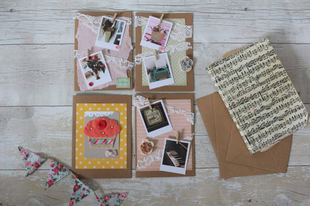 handmade cards DIY felt cupcake handmade cards