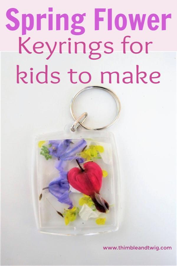spring flower keyrings for kids to make