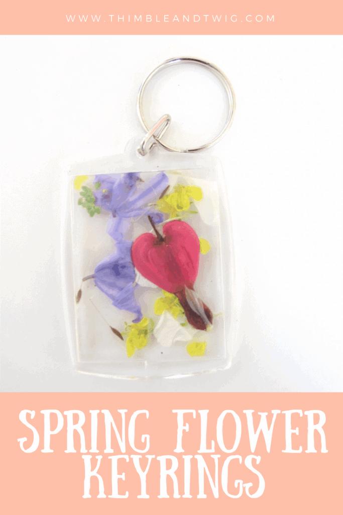 Spring Flower Keyring
