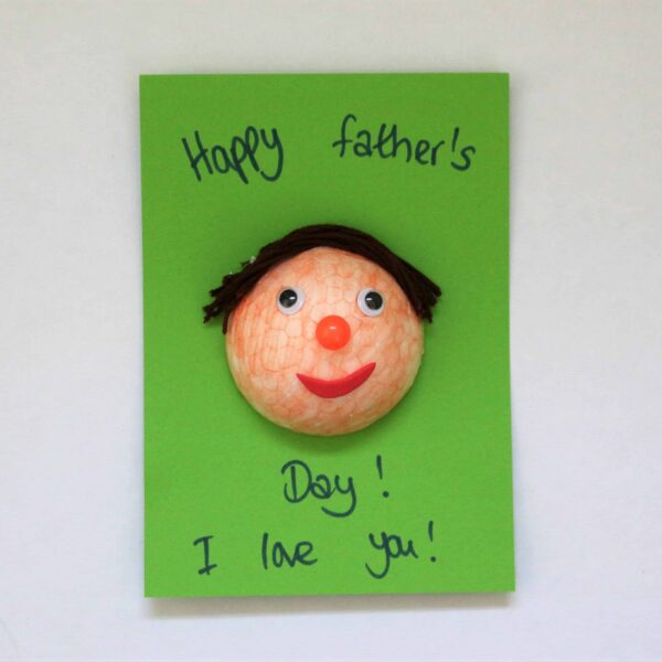 Easy Father's Day Card Craft for kid's to make