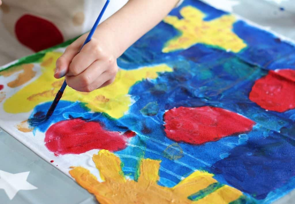 Looking for an easy process art for kids? Try Batik Art Painting with washable Glue. Great process art for kids
