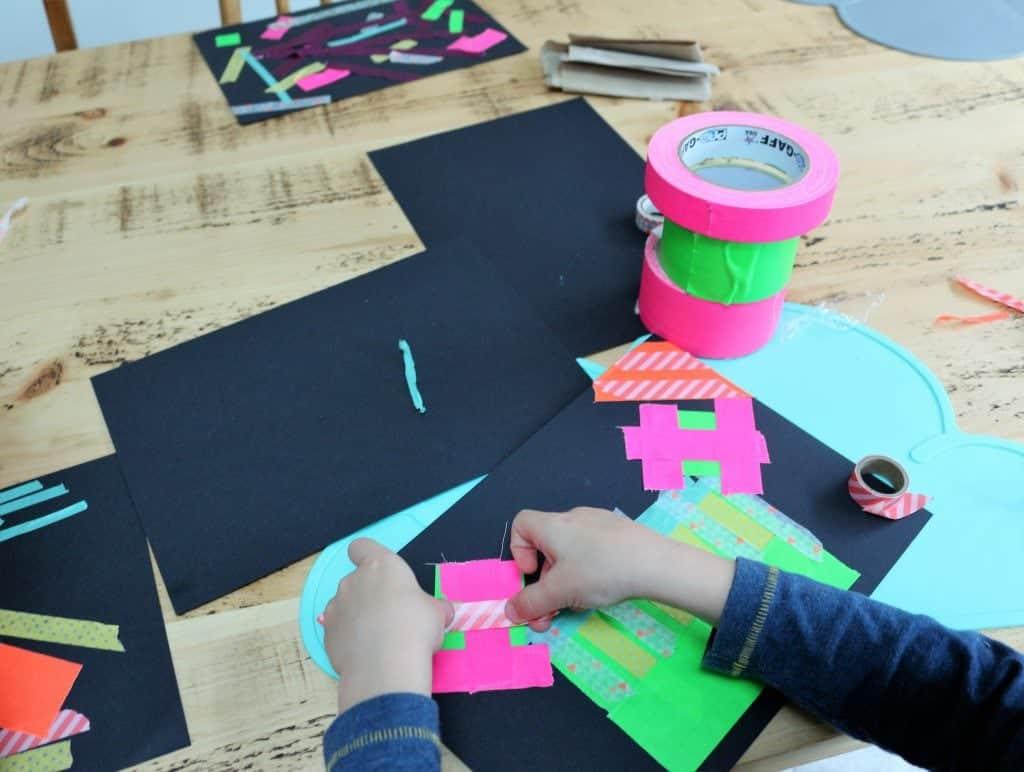 Firework Washi Tape Craft - Thimble and Twig