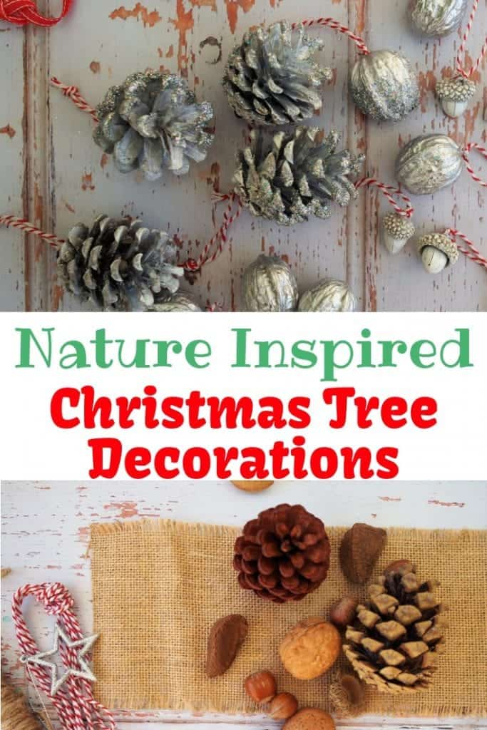 Nature Inspired christmas decorations Handmade christmas tree decorations