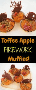 Toffee Apple Firework Muffin Baking wit ildren for bonfire nigt