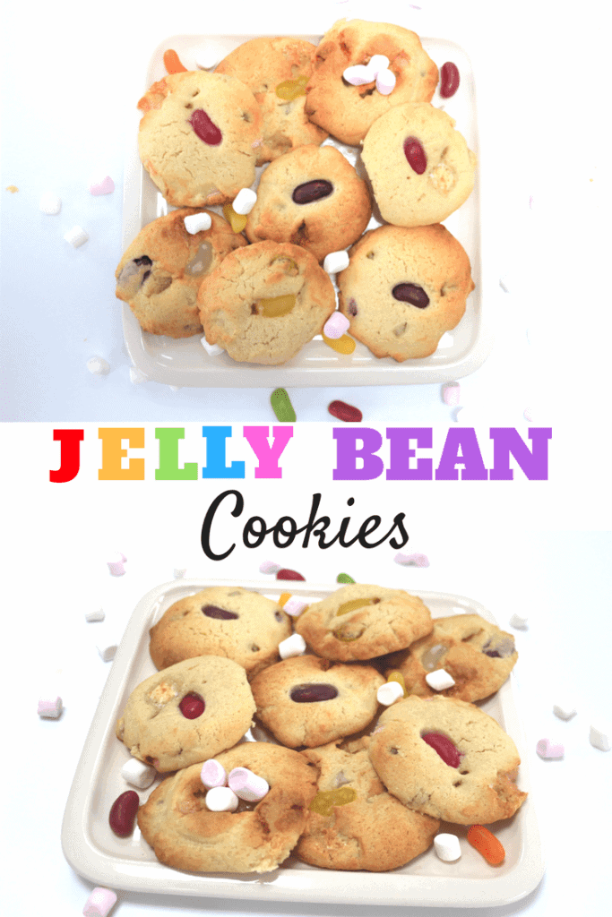 Jelly bean and marshamallow cookies
