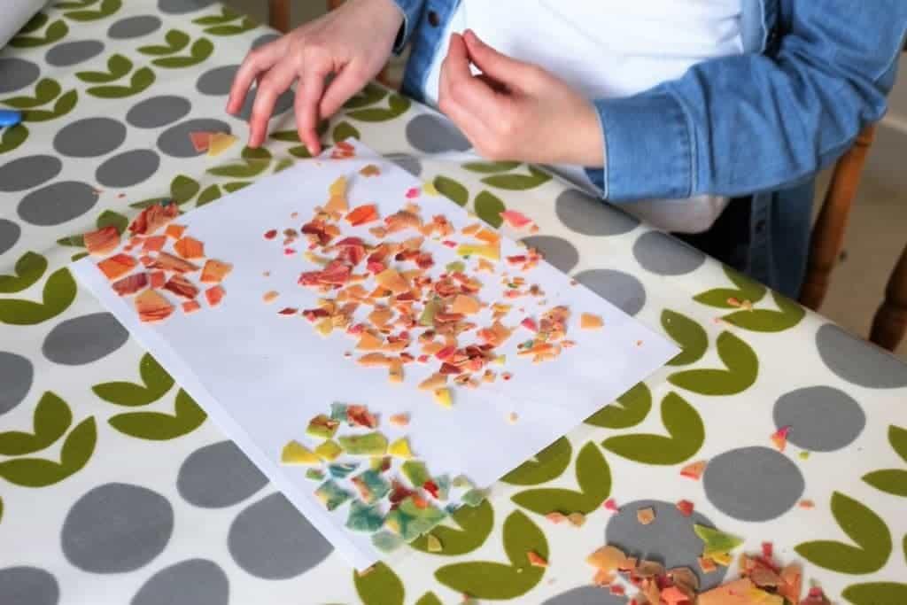 Painted Pasta Mosaic