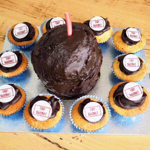 Bomb Cake Spy Birthday Party