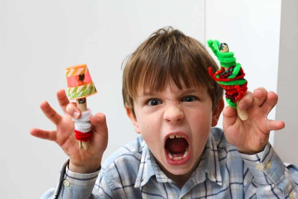Alien Peg Doll Crafts for Kids