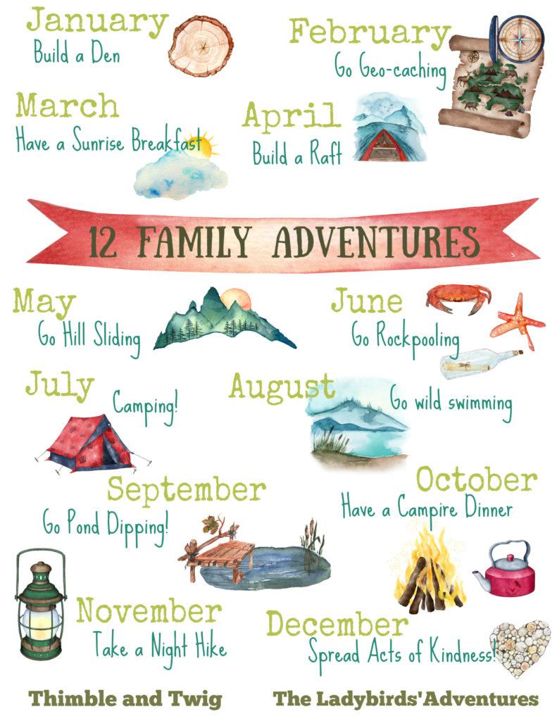 12 family adventures