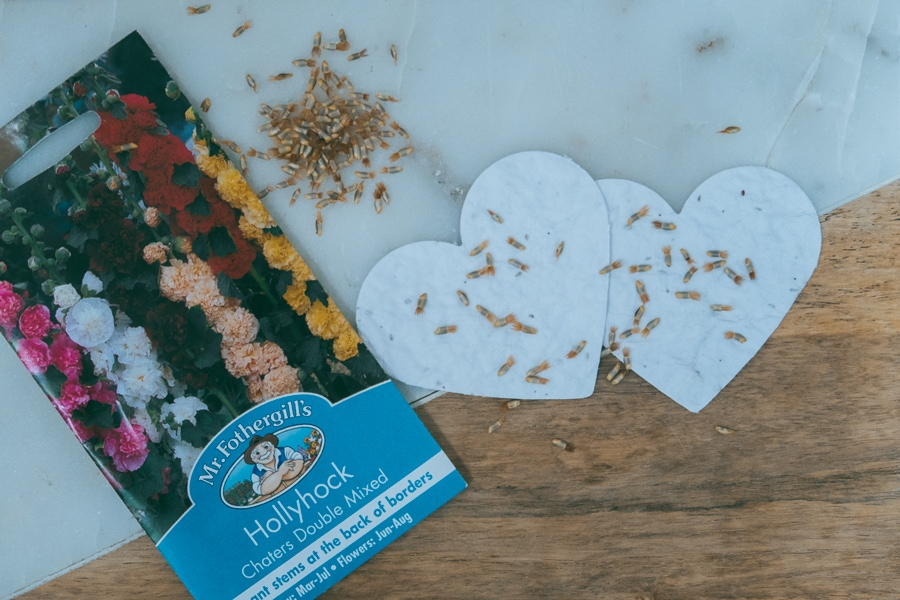 How to make heart plantable seed paper for valentines day gift