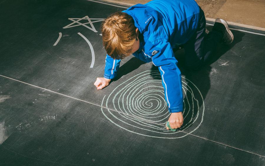 boy chalk drawing Imagine Childrens Festival