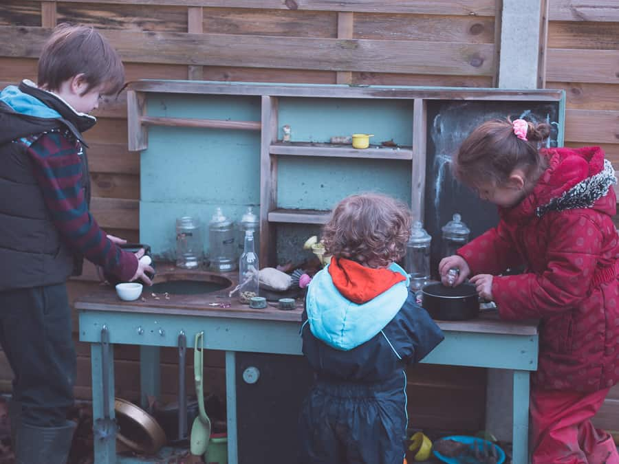 Mud Kitchen Play Ideas For Kids Thimble And Twig