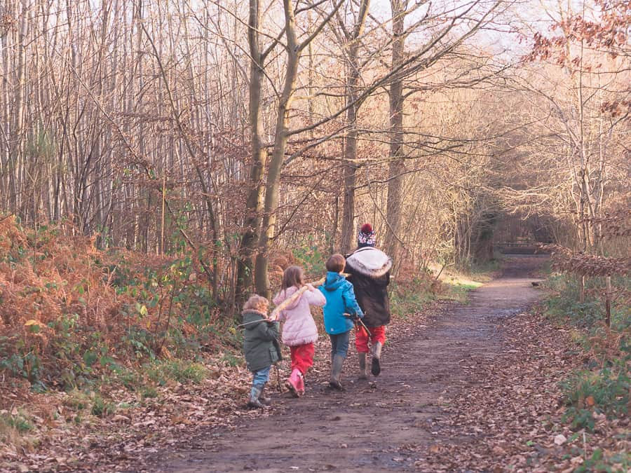 How to make walking outdoors fun for kids - Thimble and Twig
